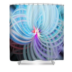 Blue/purple Spere Shower Curtain by Cherie Duran