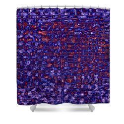 Blue Red Purples Shower Curtain