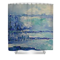 Blue Reflections Shower Curtain