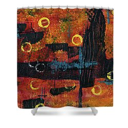Blue Relic Shower Curtain