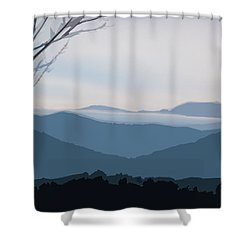 Blue Ridge Above The Clouds Shower Curtain