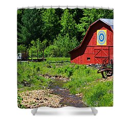 Blue Ridge Barn Shower Curtain