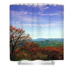 Shower Curtain featuring the photograph Blue Ridge Blessing by Jessica Brawley