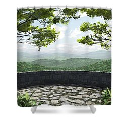Blue Ridge Shower Curtain