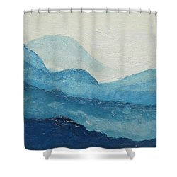 Blue Ridge Shower Curtain by D T LaVercombe