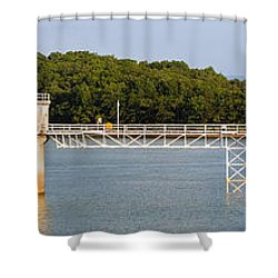 Blue Ridge Dam - Panoramic Shower Curtain