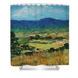 Blue Ridge Shower Curtain by Gail Kent