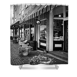 Blue Ridge Love Dogs In Black And White Shower Curtain