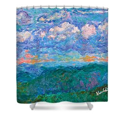 Blue Ridge Magic From Sharp Top Stage One Shower Curtain by Kendall Kessler