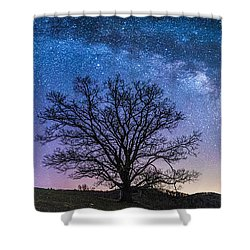 Blue Ridge Milkyway Shower Curtain by Robert Loe