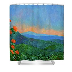 Blue Ridge Morning Shower Curtain