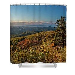 Blue Ridge Mountain Autumn Vista Shower Curtain