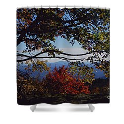 Shower Curtain featuring the photograph Blue Ridge Mountain View by Debra Crank
