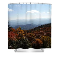 Blue Ridge Mountains Shower Curtain by Flavia Westerwelle
