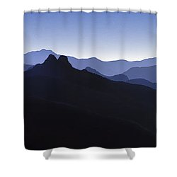 Shower Curtain featuring the photograph Blue Ridge Mountains. Pacific Crest Trail by David Zanzinger
