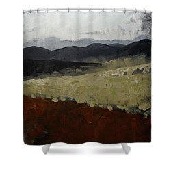Blue Ridge Mountains Painting North Carolina Shower Curtain