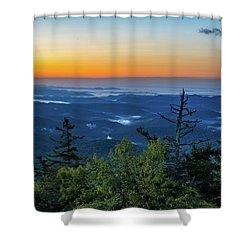 Blue Ridge Mountains Sunrise Shower Curtain