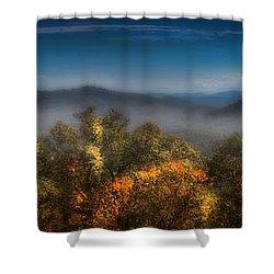 Shower Curtain featuring the photograph Blue Ridge Panorama by Ellen Heaverlo