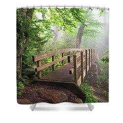 Blue Ridge Parkway Hiking Tanawha Trail Rough Ridge Shower Curtain