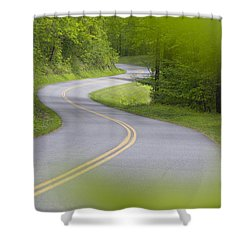 Blue Ridge Parkway Shower Curtain