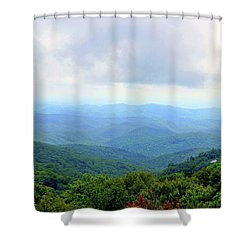 Shower Curtain featuring the photograph Blue Ridge Parkway Overlook by Meta Gatschenberger