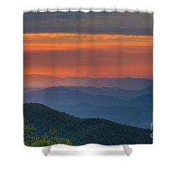 Blue Ridge Sunrise At Wintergreen  Shower Curtain