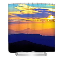 Blue Ridge Sunset, Virginia Shower Curtain