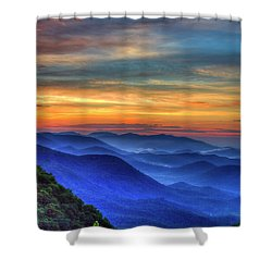 Shower Curtain featuring the photograph Blue Ridges 2 Pretty Place Chapel View Great Smoky Mountains Art by Reid Callaway