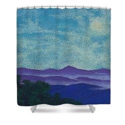 Blue Ridges Mist 1 Shower Curtain