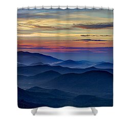 Shower Curtain featuring the photograph Blue Ridges Pretty Place Chapel by Reid Callaway