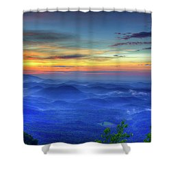 Shower Curtain featuring the photograph Blue Ridges Pretty Place Chapel Wedding Venue Art  by Reid Callaway