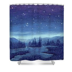 Blue River 01 Shower Curtain
