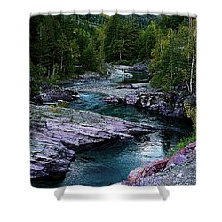 Blue River Shower Curtain by Joseph Noonan