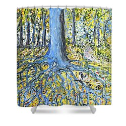 Blue Roots Shower Curtain