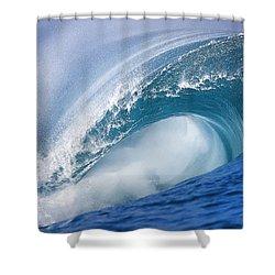 Blue Rush Shower Curtain