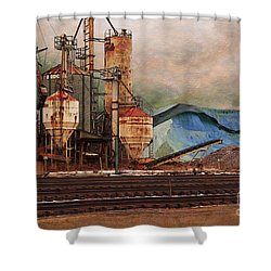 Blue Salt Shower Curtain by David Blank