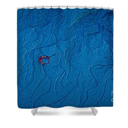 Blue Sand Shower Curtain by Susan Cole Kelly