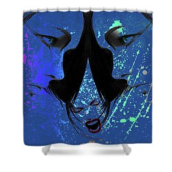 Blue Screamer Shower Curtain