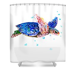 Blue Sea Turtle Shower Curtain