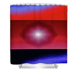 Blue Series Triptych Shower Curtain
