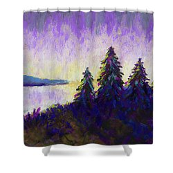 Blue Shadows At Dusk Shower Curtain