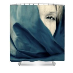 Blue Shawl #02953 Shower Curtain