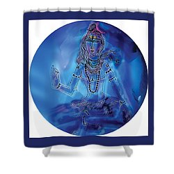 Blue Shiva  Shower Curtain