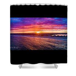 Blue Shutter East Beach Shower Curtain