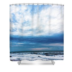 Emotion And Departure At Half Moon Bay Shower Curtain