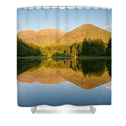 Blue Skies At Torren Lochan Shower Curtain