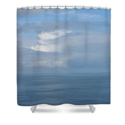 Shower Curtain featuring the photograph Blue Skies by JoAnn Lense
