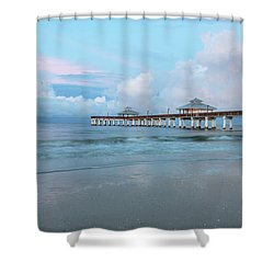 Shower Curtain featuring the photograph Blue Skies by Kim Hojnacki