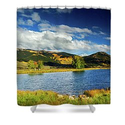 Shower Curtain featuring the photograph Blue Skies Over Crested Butte by John De Bord