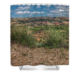 Blue Skies Over Palo Duro Canyon Shower Curtain